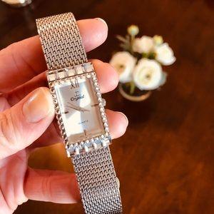 NWOT Crystal Silver Watch
